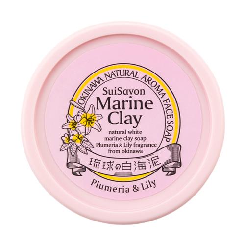 ホワイトマリンクレイ洗顔石鹸(プルメリア&リリーの香り)