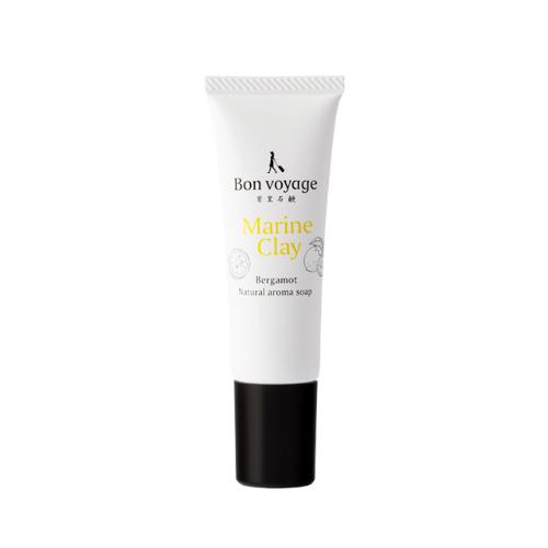 琉球のホワイトマリンクレイ 洗顔石鹸(ベルガモットの香り)ミニチューブ26g