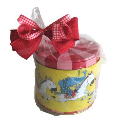 草加せんべい お菓子のミカタ  メリーゴーランド缶ギフト