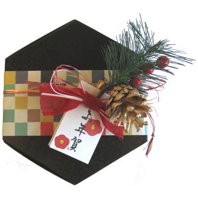 草加せんべい 六角BOX一段フルーリールお年賀