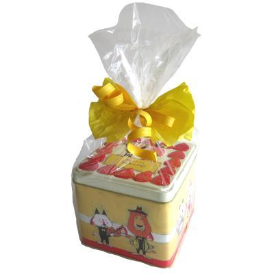 草加せんべい お菓子のミカタ  動物ケーキ缶ギフト
