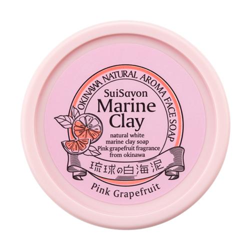 琉球のホワイトマリンクレイ 洗顔石鹸(ピンクグレープフルーツの香り)